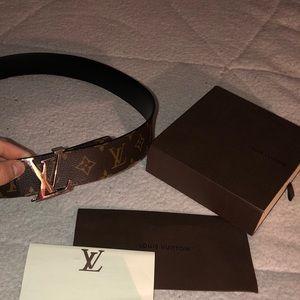 Louis Vuitton classic monogram belt
